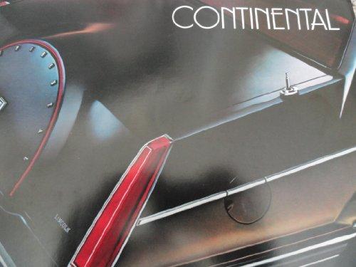 Original 1982 Lincoln Continental Sales Brochure