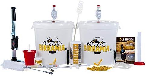 Birramia Kit de fermentación para Cerveza Hecho en casa 2 fermentadores + tappadora Profesional ...