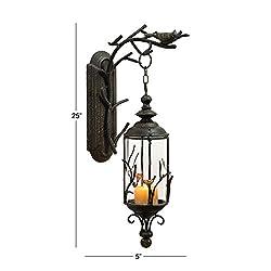 Deco 79 68057 Metal & Glass Hanging Lantern