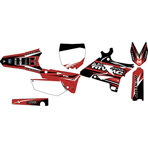Attack Graphics Custom Blitz Complete Bike Restyle Graphics Kit Black/Brick Red UFO Restyle Plastic Kit - Fits: Yamaha YZ250 2002-2014