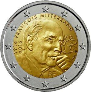 Frankreich - 2 Euro Gedenkmünze 2016 (François Mitterrand)
