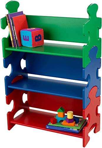Durable Wooden Construction - Kidkraft Puzzle Book Shelf - Primary