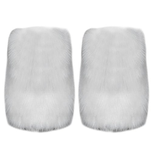 Topro 1 Pair Fluffy Furry Legwarmers Boots Covers Color White (White Fluffy Leg Warmers)