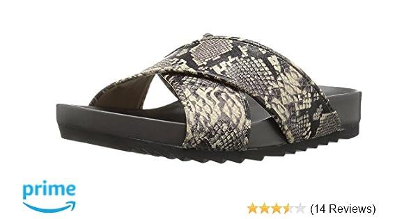 04ee9967b3a Amazon.com  The Fix Women s Unda Cross Strap Footbed Platform Slide Sandal   Shoes