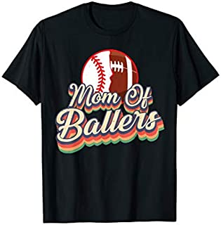 Mom Of Ballers Football Baseball T-shirt | Size S - 5XL