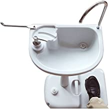 Z ZTDM Portable Foldable Outdoor Wash Sink with Wheels for Camping Traveling White