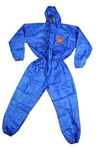 ZVG Tritex pro - Traje protector desechable (cat. 3 / tipo 5+6, talla M), color azul