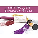 Metkix Lint Roller Extra Sticky Pet Hair Remover for Clothes,Furniture 4 Pack Total 240 Sheets