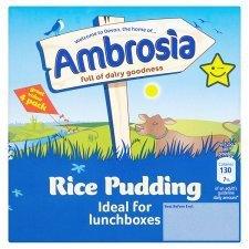 Creamed Rice Ambrosia - Ambrosia Creamed Rice Pudding 4 X 125G