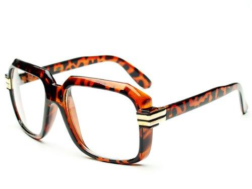 873136c2db04 Legendary Run DMC Cazal Style Gazelle Retro Square Clear Lens Eye Glasses  (Tortoise)