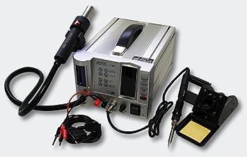 AOYUE Int768 Sistema de reparación Estación de soldadura de aire caliente Unidad de suministro de energía del hierro de soldadura: Amazon.es: Bricolaje y ...