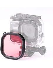 JIXIAO Accesorios Boutique Plaza de Vivienda de Buceo Filtro de la Lente del Color for GoPro HERO8 Negro Cubierta Impermeable (Rosa) (Color : Pink )