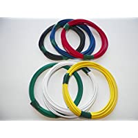 Automotive Copper Wire, GXL, 14 GA, AWG, GAUGE Truck, Motorcycle, RV, General Purpose. Order by 3pm EST Shipped Same Day (6 Colors 10 Each) (6 COLORS 10 EACH)