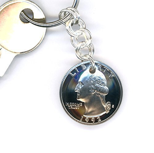 Amazon.com 25th Anniversary Gift For Men Handmade Keychain with 1993 Quarter and Sterling Silver Chain 25th Birthday Gift Ideas For Men Handmade  sc 1 st  Amazon.com & Amazon.com: 25th Anniversary Gift For Men Handmade Keychain with ...