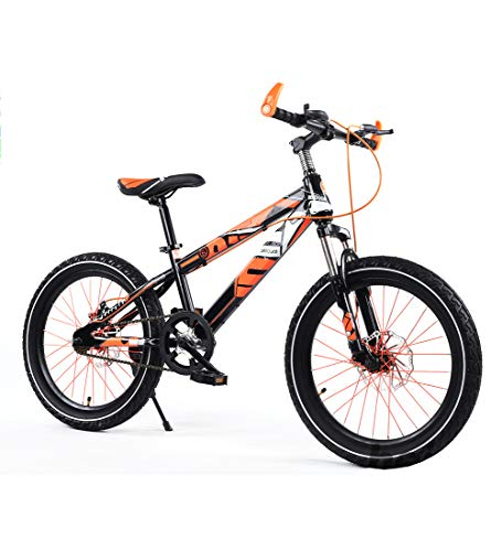 (Aon-MX Mountain Bike 16 Inches Kids Bike for Girls & Boys Bicycle Dual Disc Brake,16 Inch Bicycle (Red Orange Blue Green),Orange)