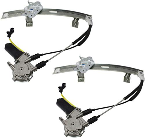 Window Regulator for 91-96 Dodge Stealth Set of 2 Power w/Motor
