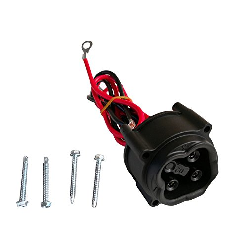 Charging Receptacle (Yahama Receptacle JW2-H6181-02-00,Yamaha Golf Cart/Car Charging Receptacle Fits 2008-2010 G29 Drive Models)