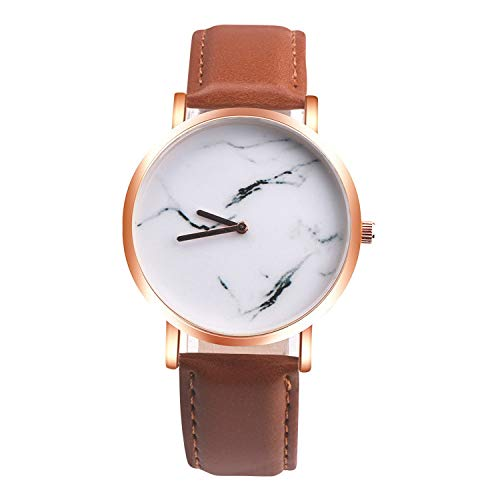Watches Women Marble Style Leather Quartz Clock top Watch Business Casual Sport Wrist Watch Lovers Gift,bw