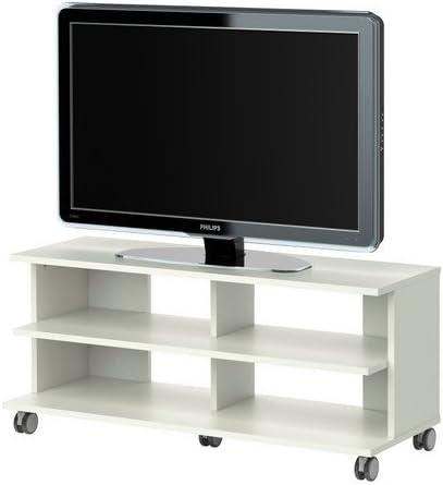 IKEA BENNO - Mueble TV con ruedas, blanco - 118x42x51 cm: Amazon ...