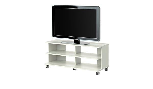 IKEA BENNO - Mueble TV con ruedas, blanco - 118x42x51 cm: Amazon.es: Hogar