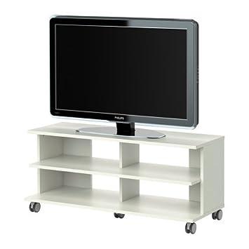 Ikea BENNO -TV-Bank auf Rollen weiß - 118x42x51 cm: Amazon.de: Küche ...