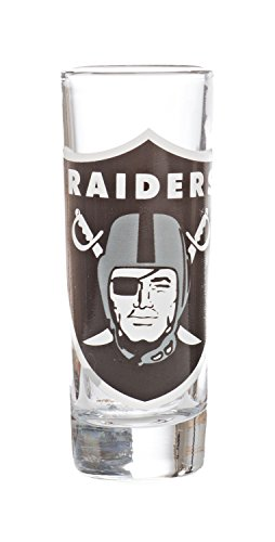 - NFL Oakland Raiders Tall Shot (2.5oz) Clear Cordial Glass