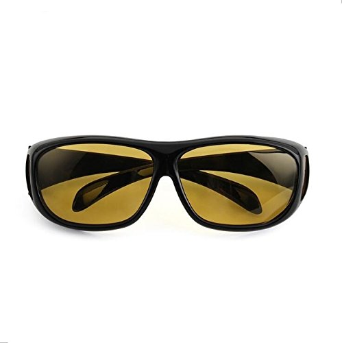 HD Night Vision Driving Glasses Unisex Polarized UV400 Sunglasses& Oudoor Fashion Cycling Riding Bicycle Sports Protective Goggle Sun Glasses YELLOW - Sun End High Glasses