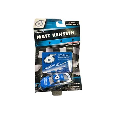 NASCAR Authentics Matt Kenseth #6 Diecast Car 1/64 Scale - 2020 Wave 10 - with Die Cut Magnet - Collectible: Toys & Games