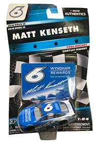 (NASCAR Authentics Matt Kenseth #6 Diecast Car 1/64 Scale - 2018 Wave 10 - with Die Cut Magnet - Collectible)