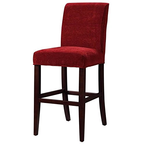 Classic Seating Chenille Slipcover Color: Garnet Red (Barstool Seat Covers compare prices)