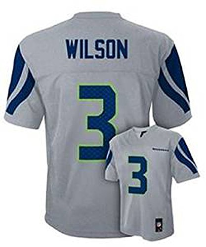 Russell Wilson Seattle Seahawks Gray Kids 4-7 NFL Alternate Replica Jersey (Kids 5/6) ()