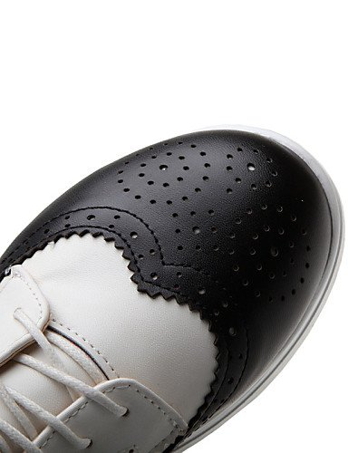 Richelieu us5 rotonda nero All'aperto punta similpelle Uk3 Njx Cn34 creepers Eu35 Elegante Scarpe donna piattaforma argento 2016 argento qvgAP1