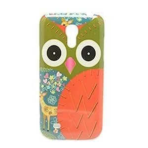 Big Owl Pattern IMD Craft Hard Case for Samsung Galaxy S4 Mini I9190