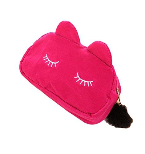 Del Gatto Trucco Molle Sacchetto Weimay Matita nero Cosmetico Di Rosa Sveglia Caso Penna q8txx54I