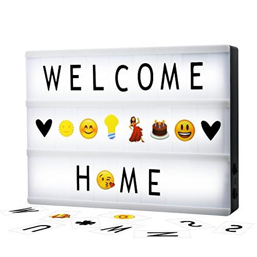 (SOLOTREE Cinema Light Box A4 LED Lightbox 160 Letters, Symbols & Emojis Home Shop Decor, Birthday Party, Wedding)
