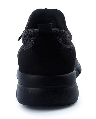 Sports Shoes CHUI Lightweight Sneakers Breathable Fashion Black up Womens Lace nqqT4XY