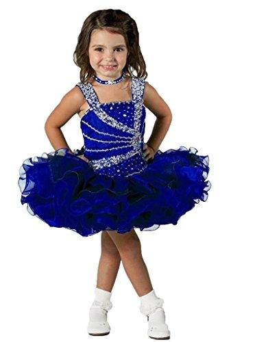 Aisha Little Girls' Cupcake Dress Toddler Short Pageant Dress 4 US Royal Blue