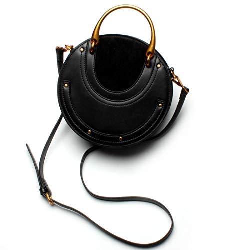 Mensajero Metal color Black Remache Hombro Femenino Black Mujeres Bolso Retro De Olprkgdg Las Del 0qvPz