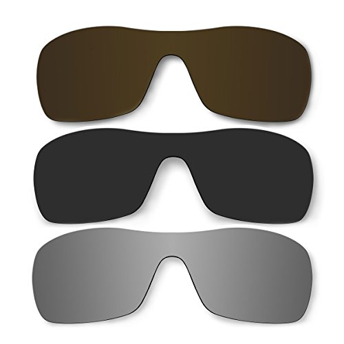 3 Pair Replacement Polarized Lenses for Oakley Antix Sunglasses Pack P10