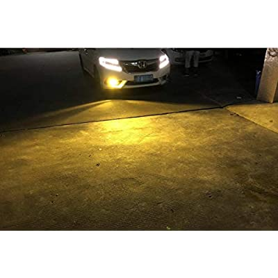SNGL H10 LED Fog Light bulbs Yellow 3000K Super Bright without Glare for Fog lights (Pack of 2): Automotive