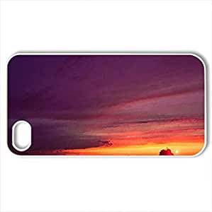 Sea - Case Cover for iPhone 4 and 4s (Sunsets Series, Watercolor style, White)