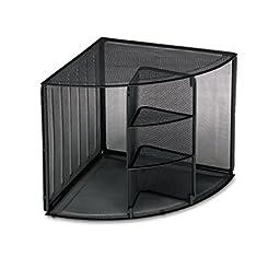 Corner Shelf, Mesh, 20 quot;x14 quot;x13 quot;, Black