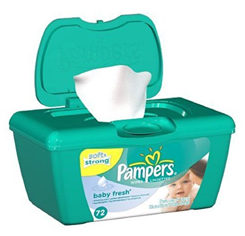 Pampers Baby Fresh Wipes Tub 72 Count Touch Of Vitamin E