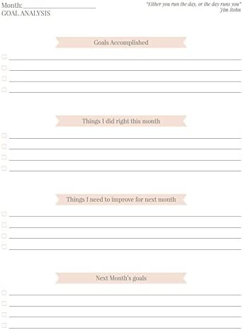 Hit Your Goals /& Reach Happiness Including Inspirational Quotes The Perfect Gift Shape Your Life Undated Daily Planner to Boost Productivity