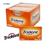 12 Packs x Trident Tropical Twist Sugar Free Chewing Gum Packets FULL BOX