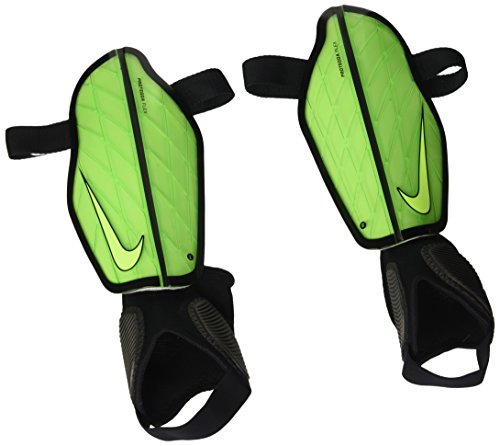 Nike Adult Protegga Flex Soccer Shin Guards (Green/Black, L)