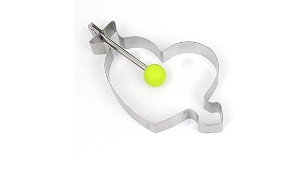 Amazon.com: Forma DealMux Metal Heart pastelaria, Bolacha, Bolo Baking cortador Mold Mold DIY Ferramenta: Kitchen & Dining