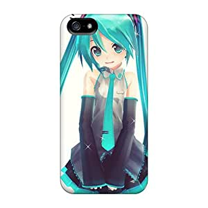 Apple Iphone 5/5s UbQ5852eNff Support Personal Customs Beautiful Hatsune Miku Skin High Quality Hard Phone Case -RobAmarook