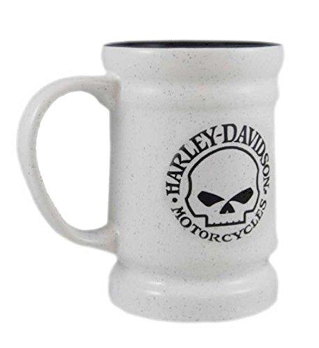 Harley-Davidson Willie G Skull Logo Coffee Mug, 14 oz. White, HD-SKL-1394