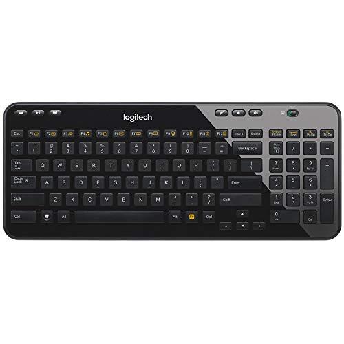 Logitech K360 Teclado Inalámbrico Compacto para Windows, 2,4 GHz con Receptor USB Unifying, 12 Teclas Personalizables, Batería de 3 Años, PC/Portátil, Disposición QWERTY Escandinavo, Color Negro